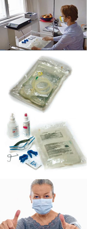 Vorbereitung CAPD-Beutelwechsel